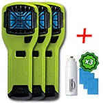Три отпугивателя комаров ThermaCELL (лайм) MR-300  High Visibility Green Repeller(+1газ.картридж и 3