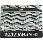 Чернила в картриджах 52001 Waterman Black (S0110850)