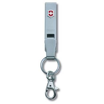 """Подвеска на ремень Victorinox 4.1858 """"Multiclip"""" (с карабином и кольцом для ключей, металлическая)"""