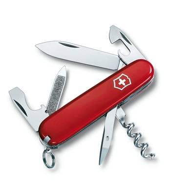 Нож Victorinox 0.3803 Sportsman офицерский, 84мм, красный