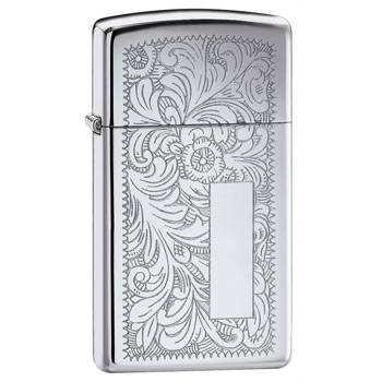 Зажигалка Zippo 1652 High Polish Chrome Venetian Slim