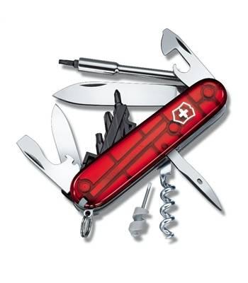 Нож Victorinox 1.7605.T CyberTool 29, 91мм, прозр.красный