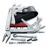 Мультитул Victorinox 3.0339.L SwissTool X Plus Ratchet, (115 мм, 40 функций в кожаном чехле)
