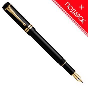 Перьевая ручка Parker Duofold F74 International Black GT(S0690410F)