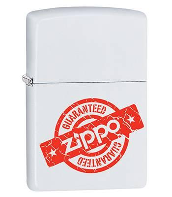 яЗажигалка Zippo 29547 Guaranteed White Matte