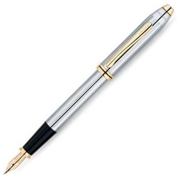 Перьевая ручка Cross Townsend Medalist Crome/23Ct Gold Plated (506-FF, 506-MF)