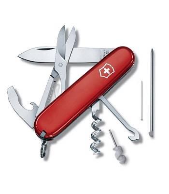 Нож Victorinox 1.3405 Compact офицерский, 91мм, красный