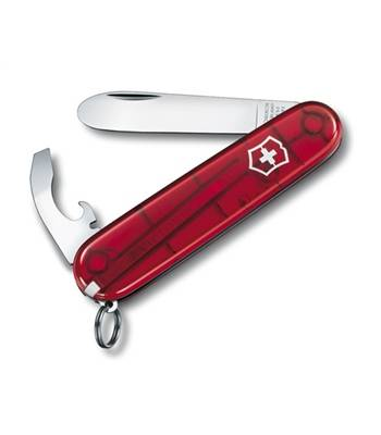 Нож Victorinox 0.2363.T My First Victorinox офицерский, 84мм, полупрозр. красный