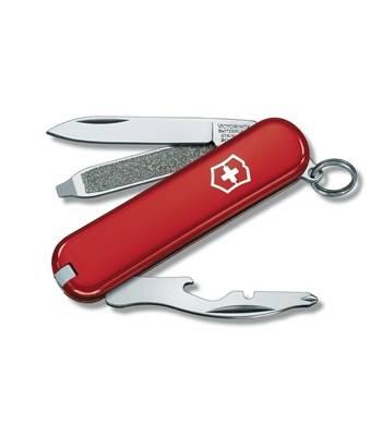 Нож-брелок Victorinox 0.6163 Rally, 58мм, красный
