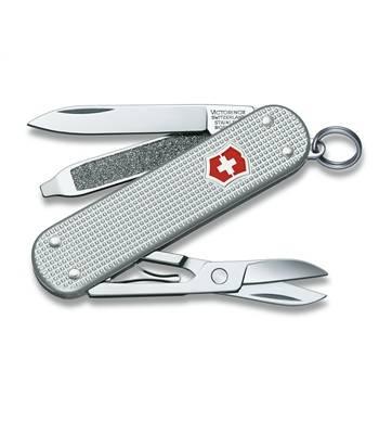 Нож-брелок Victorinox 0.6221.26 Classic Alox, 58мм, серебристый