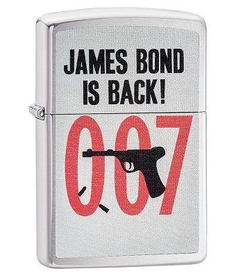 яЗажигалка Zippo 29563 James Bond Brushed Chrome