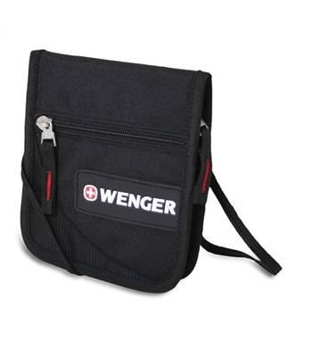 """Кошелек на шею Wenger 18312168 """"Neck wallet"""" черный/красный"""