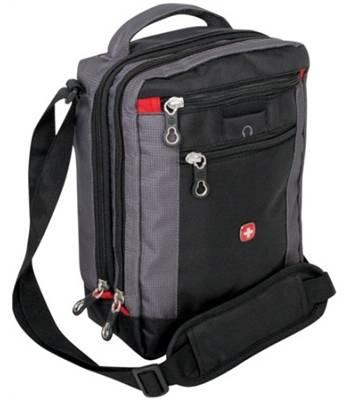 "Сумка Wenger 1092238 ""Vertical boarding bag"" черный/серый 22х9х29см"