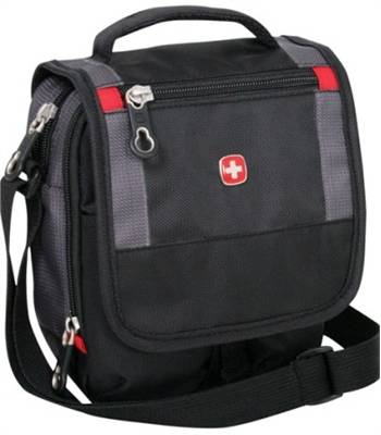 "Сумка Swissgear SA1092239 ""Mini boarding bag"" черный/серый 16x8x19 cm"