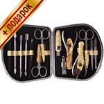 Маникюрный набор профессиональный Zinger zMSFE-1100-SM полукр (15 предметов)