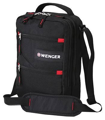 "Сумка Swissgear SA18262166 ""Mini Vertical boarding bag"" черный/красный 21х28х9см"