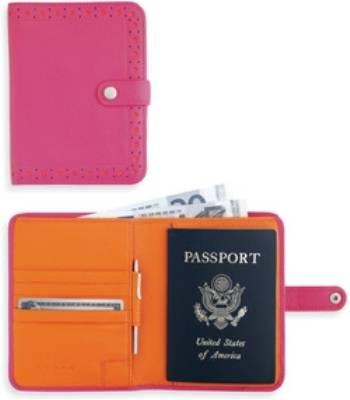Портмоне/футляр для паспорта Cross AC209-7A с ручкой,женск (розово-оранж. натур кожа)12х14х1,5