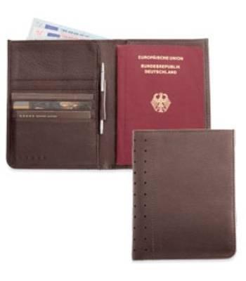 Портмоне/футляр для паспорта Cross AC246-9 с ручкой,мужской (коричн. натур кожа)10х14см