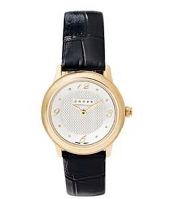 Часы женские Cross WFAK25 Chicago Black Leather Strap