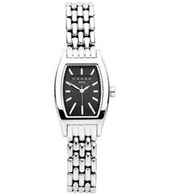 Часы женские Cross WFAK40 Manhattan, стальной браслет / черный циферблат