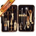 Маникюрный набор профессиональный Zinger zMSFE-830-G (15 предметов)
