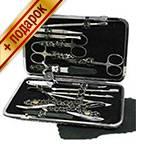 Маникюрный набор профессиональный Zinger zMSFE-830-BP (15 предметов)