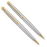 Шариковая ручка+механ карандаш Waterman Hemisphere Stainless Steel GT