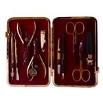 Маникюрный набор профессиональный Zinger zMSFC 804-G с клиппером (10 предметов)