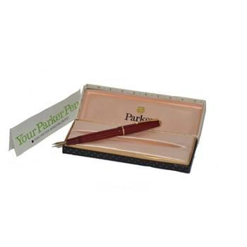 Перьевая ручка Parker Slimfold, перо 14К. в оригин. коробке с инструкцией, конвертер, арт. 22