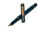 Перьевая ручка Parker Rialto, цвет-синий, перо М, позолоченное, арт. 40