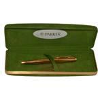Шариковая ручка Parker 75, 1970-е гг., позолоченная, нажимного действия, в ориг. коробке, арт. 35