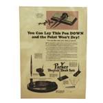 "Статья ""You can lay this pen down and the point..."", ориг., из журнала за 1926г., 21х29,5см, арт.9"
