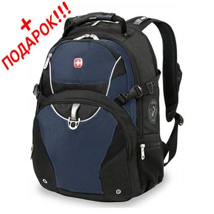 """Рюкзак Wenger 3263203410 черный/синий с отделением для ноутбука15"""" 34х17х47 (26л"""