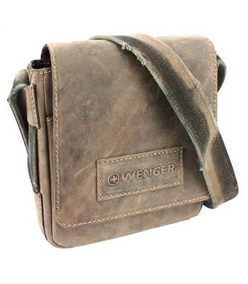"яКожаная сумка-планшет Wenger W16-01 ""STONEHIDE"", коричневый, кожа, 23х7x24 см"