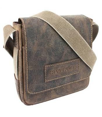 "яКожаная сумка-планшет Wenger W23-03Br ""ARIZONA"", коричневый, 23х7x24 см"