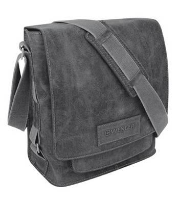 """Кожаная сумка наплечная вертикальная Wenger W23-05Bl """"ARIZONA"""", черный, 31х15х32  см"""