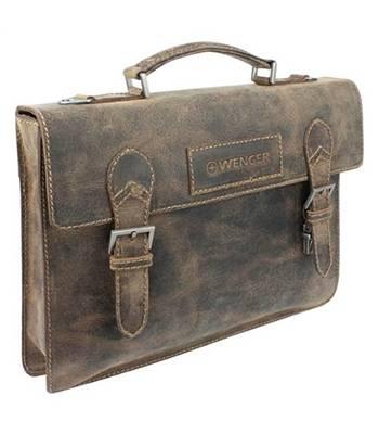 """Кожаный портфель Wenger W23-09Br """"ARIZONA"""", коричневый, 39x5x30  см"""