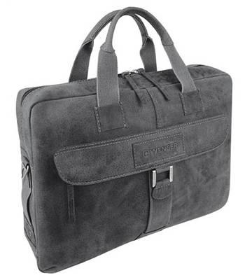 """Кожаный портфель на молнии Wenger W23-10Bl """"ARIZONA"""", черный, 55x11x40см"""