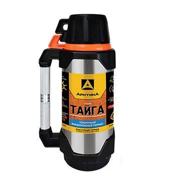 Термос Арктика с узким горлом 110-2200 ARCTICA TAIGA (с доп. чашкой и контейн. для чая, 2200мл)