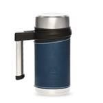 Термос-кружка Арктика 406-500 синяя (с ручкой, + ситечко, 500мл)