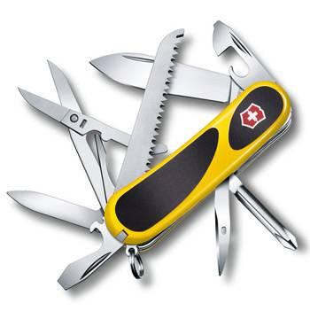 Нож Victorinox 2.4913.C8 EvoGrip 18 (85мм 15 функций, жёлтый с чёрными вставками)