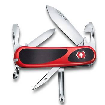Нож Victorinox 2.4803.C EvoGrip 11 (85мм 13 функций, красный с чёрными вставками)