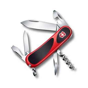Нож Victorinox 2.3803.C EvoGrip 10 (85мм 13 функций,  красный с чёрными вставками)