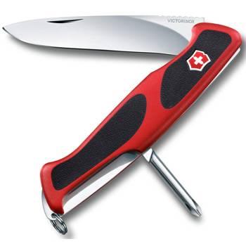 Нож Victorinox RangerGrip 53 (арт. 0.9623.C, 130мм 5 функций красно-чёрный)