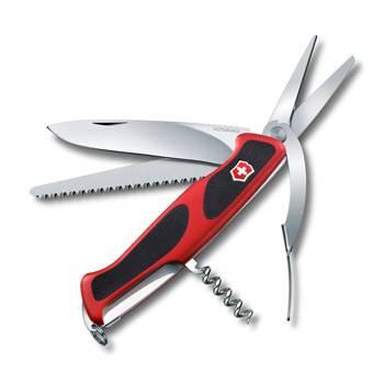 Нож Victorinox RangerGrip 71 Gardener (арт. 0.9713.C, 130мм 7 функций красно-чёрный)