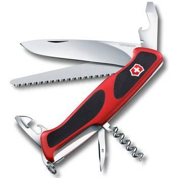 Нож Victorinox RangerGrip 55 (арт. 0.9563.C, 130мм 12 функций красно-чёрный)