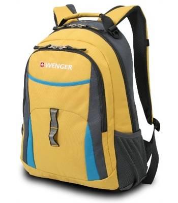 Рюкзак Wenger 3162244408 желтый/серый/голубой, 32x15x45 см 22литра