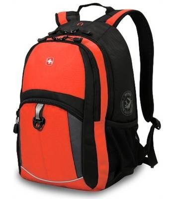 яРюкзак Wenger 3191207408 оранжевый/черный, 33x15x45 см 22литра