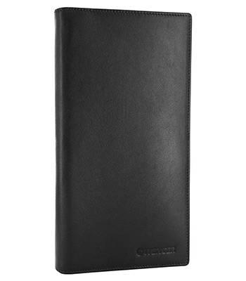 Портмоне для документов Wenger W2-01BLACK Alphubel, черный, кожа наппа, 12х1,5х22см