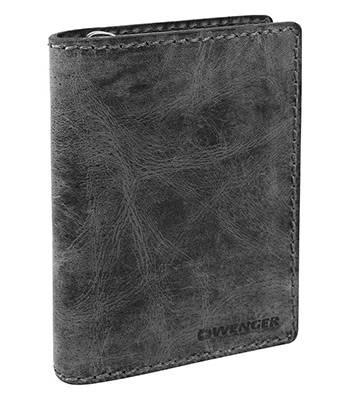 Портмоне Wenger W23-25BLACK Arizona черный, воловья кожа, 11х3х16см